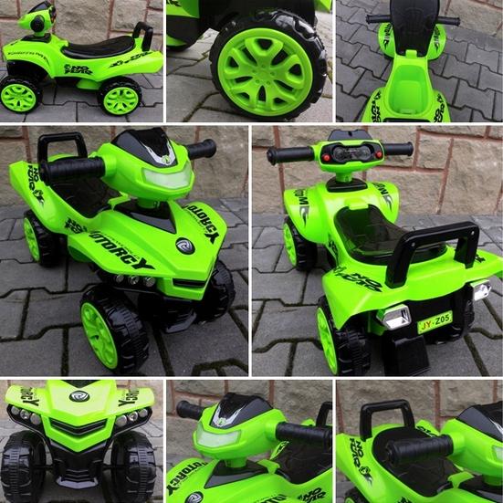 Obrazek produktu Jeździk Quad J5 zielony, chodzik, muzyka, klakson