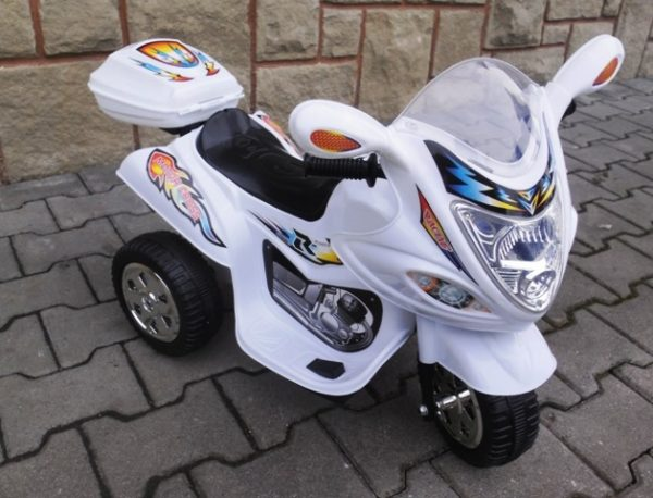 Obrazek produktu Motorek M1 biały, motorek dla dziecka
