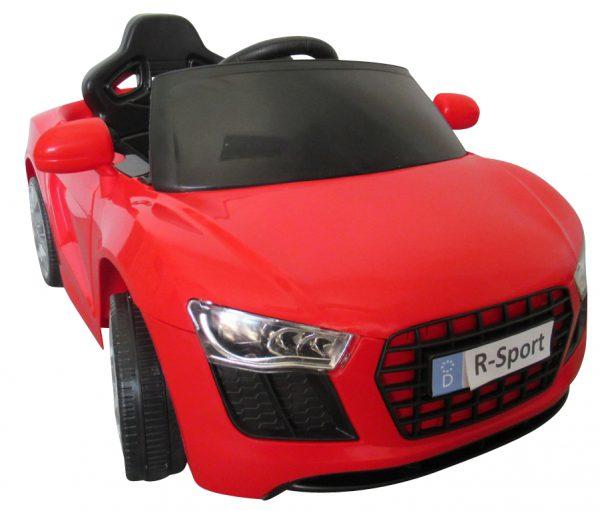 Cabrio AA4 czerwony, autko na akumulator, funkcja bujania