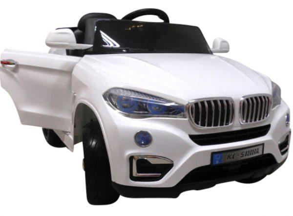 Cabrio B12 biały autko na akumulator, miękkie koła Eva