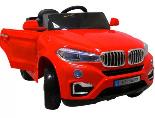 Cabrio B12 czerwony autko na akumulator, miękkie koła Eva