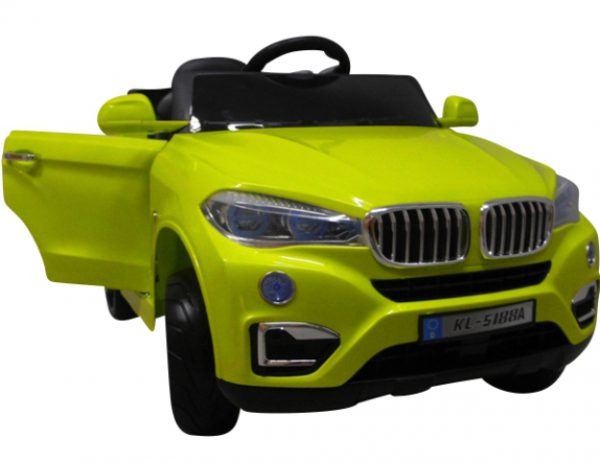 Cabrio B12 zielony autko na akumulator, miękkie koła Eva