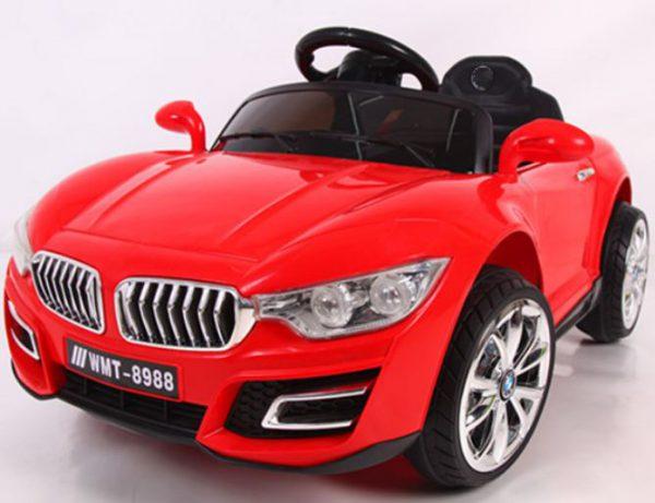 Cabrio B16 czerwony, autko na akumulator, funkcja bujania