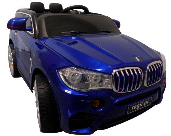 Cabrio B6 niebieski,  Miękkie koła Eva, autko na akumulator