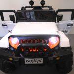 Obrazek produktu Duży Jeep X3 4×4 biały Miękki Fotelik Pilot 2.4G Wolny Start 7ah + Bujak