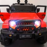 Obrazek produktu Duży Jeep X3 4×4 czerwony Miękki Fotelik Pilot 2.4G Wolny Start 7ah + Bujak