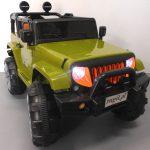Obrazek produktu Duży Jeep X3 4×4 zielony Miękki Fotelik Pilot 2.4G Wolny Start 7ah + Bujak