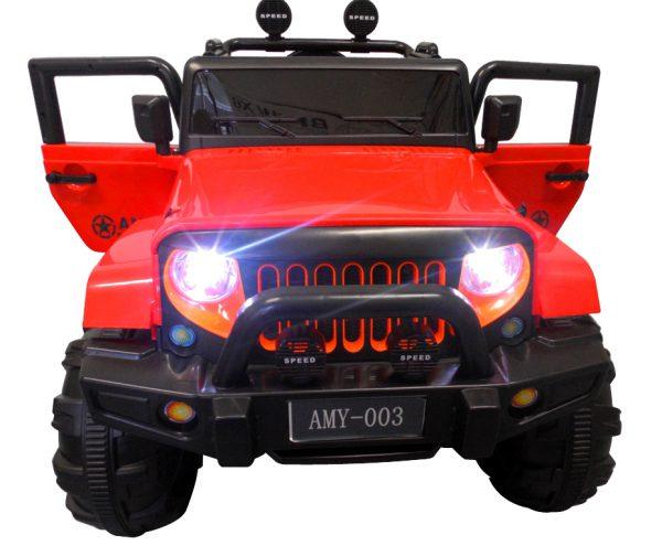 Duży Jeep X3 4×4 czerwony Miękki Fotelik Pilot 2.4G Wolny Start 7ah + Bujak
