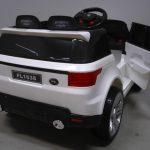 Obrazek produktu Cabrio F1 biały autko na akumulator, miękkie koła Eva