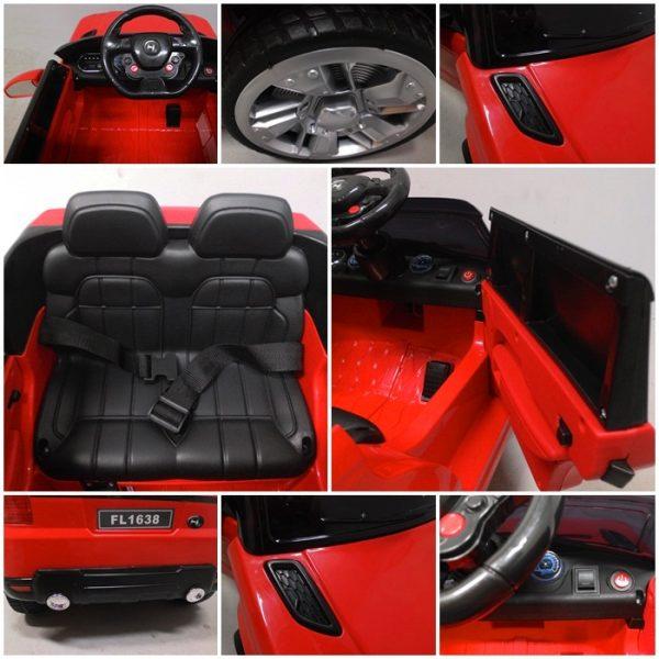 Obrazek produktu Cabrio F1 czerwony autko na akumulator, miękkie koła Eva