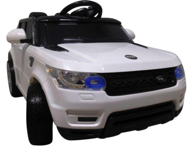 Cabrio F1 biały autko na akumulator, miękkie koła Eva