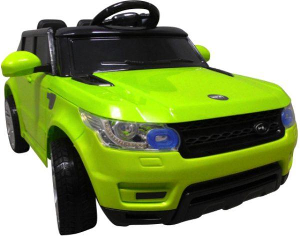 Cabrio F1 zielony autko na akumulator, miękkie koła Eva