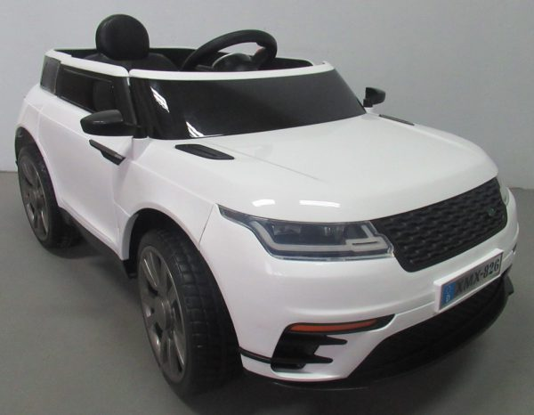 Cabrio F4 biały, autko na akumulator, miękkie koła Eva