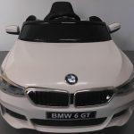 Obrazek produktu BMW 6GT Biały Miękkie koła Eva, miękki fotelik, Licencja, Autko na Akumulator