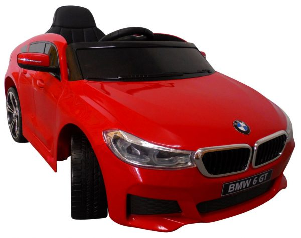 Obrazek produktu BMW 6GT czerwony Miękkie koła Eva, miękki fotelik, Licencja, Autko na akumulator