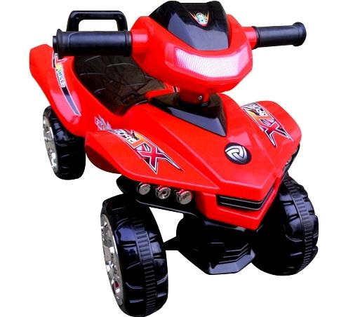 Jeździk Quad J5 czerwony, chodzik, muzyka, klakson