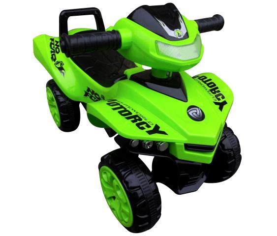 Jeździk Quad J5 zielony, chodzik, muzyka, klakson