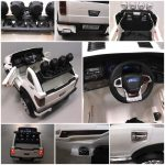 Obrazek produktu Cabrio LONG biały, miękkie koła Eva, Duże Autko Na Akumulator