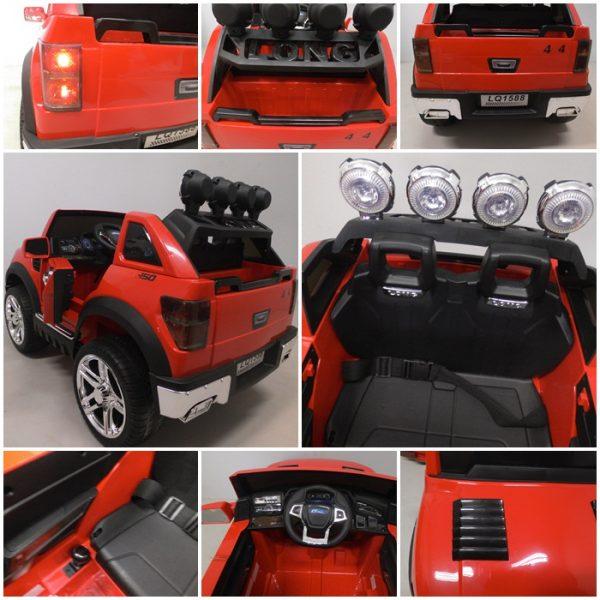 Obrazek produktu Cabrio LONG czerwony, miękkie koła Eva, Duże Autko Na Akumulator