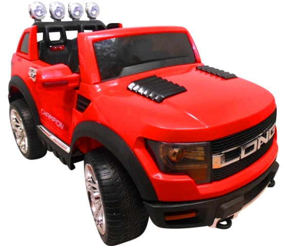 Cabrio LONG czerwony, miękkie koła Eva, Duże Autko Na Akumulator