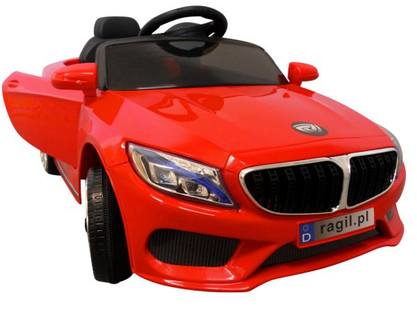 Auto Na Akumulator M55 Czerwony 2xSilnik+Pilot 2.4G+Muzyka