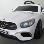Obrazek produktu Mercedes SL63 biały Miękkie koła Eva, miękki fotelik, Licencja, Autko na Akumulator