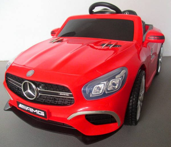 Obrazek produktu Mercedes SL63 czerwony Miękkie koła Eva, miękki fotelik, Licencja, Autko na akumulator