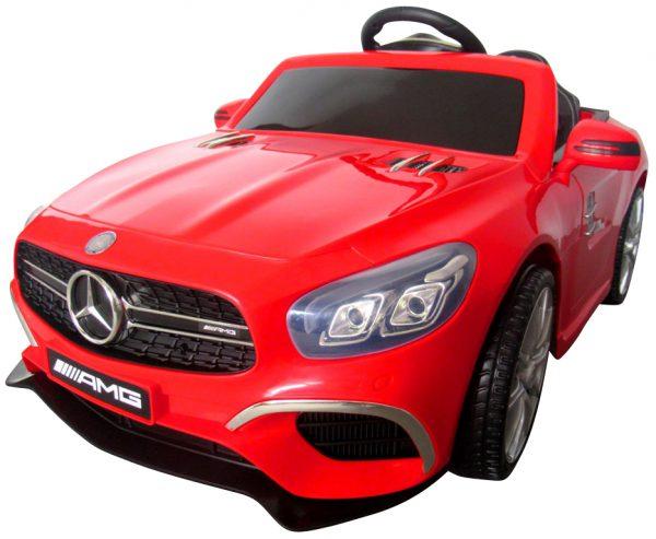 Mercedes SL63 czerwony Miękkie koła Eva, miękki fotelik, Licencja, Autko na akumulator