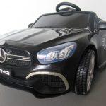 Obrazek produktu Mercedes SL63 czarny Miękkie koła Eva, miękki fotelik, Licencja, Autko na Akumulator