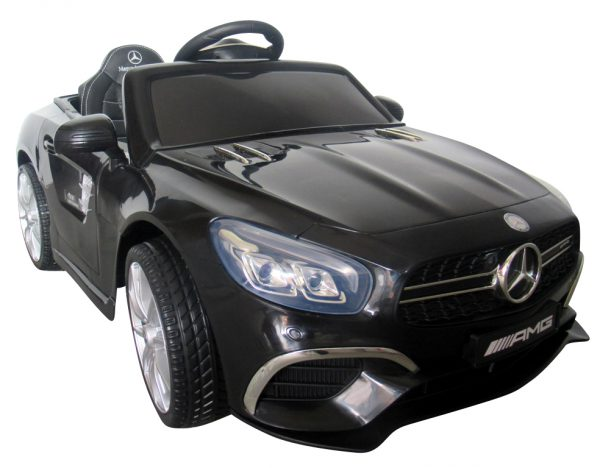 Mercedes SL63 czarny Miękkie koła Eva, miękki fotelik, Licencja, Autko na Akumulator