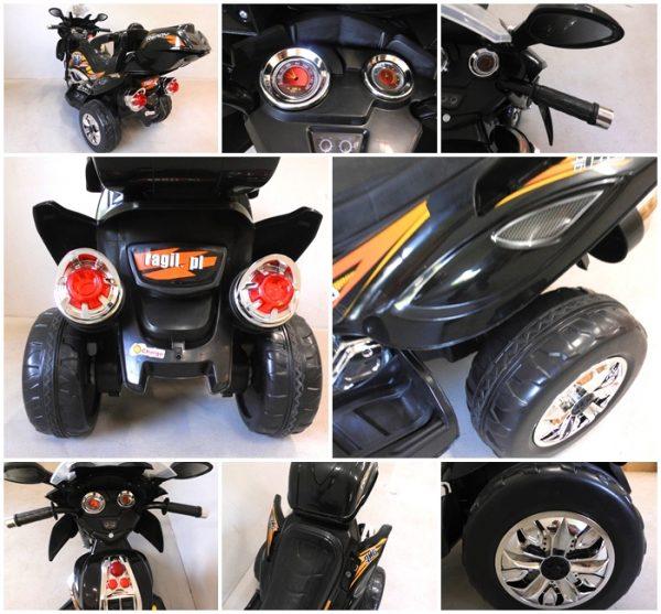 Obrazek produktu Motorek M3 czarny, motorek dziecięcy na akumulator