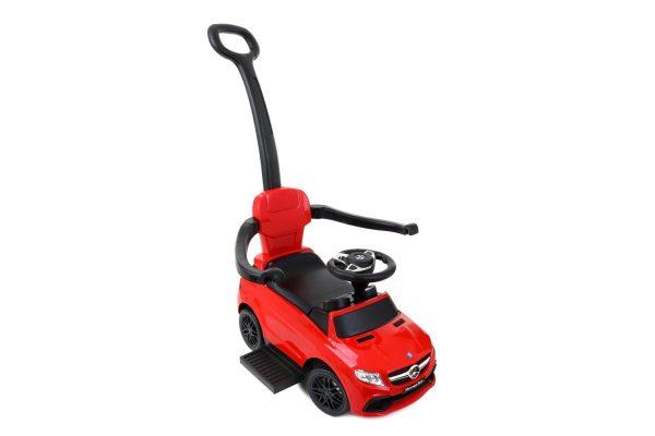 Jeździk 3w1, pchacz dla dzieci MERCEDES GLE63 Czerwony