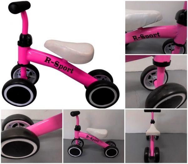 Obrazek produktu Rowerek biegowy R11 różowy R-Sport, jeździk