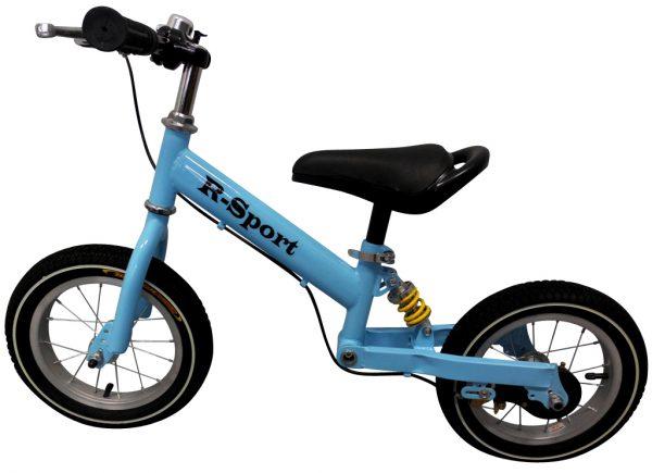 """Obrazek produktu Rowerek biegowy niebieski R2 R-Sport 12"""" hamulec, dzwonek"""