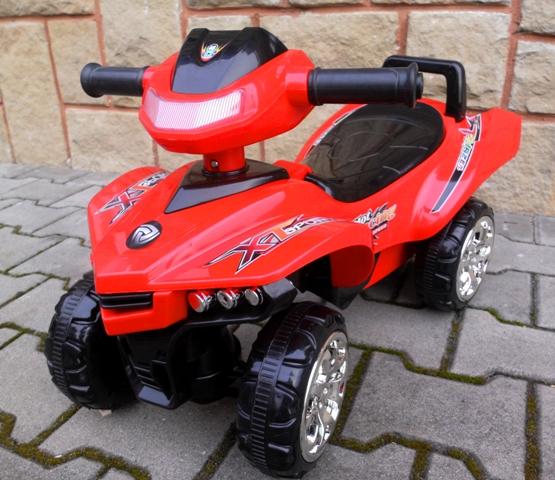 Obrazek produktu Jeździk Quad J5 czerwony, chodzik, muzyka, klakson