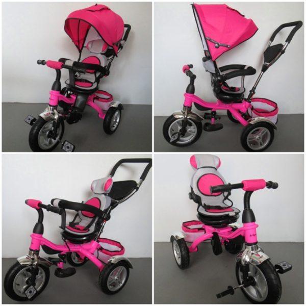 Obrazek produktu Rowerek Trójkołowy T3 różowy R-Sport  Koła pompowane