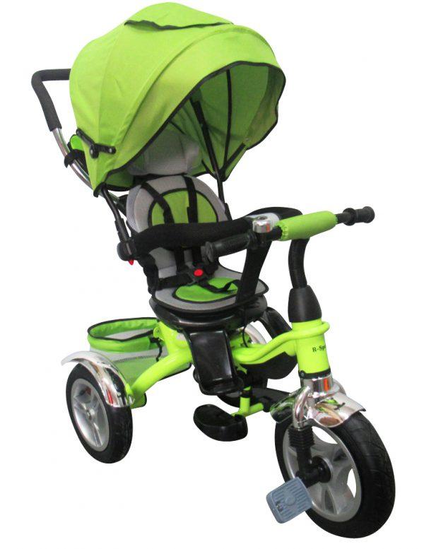 Rowerek Trójkołowy T3 zielony R-Sport  Koła pompowane