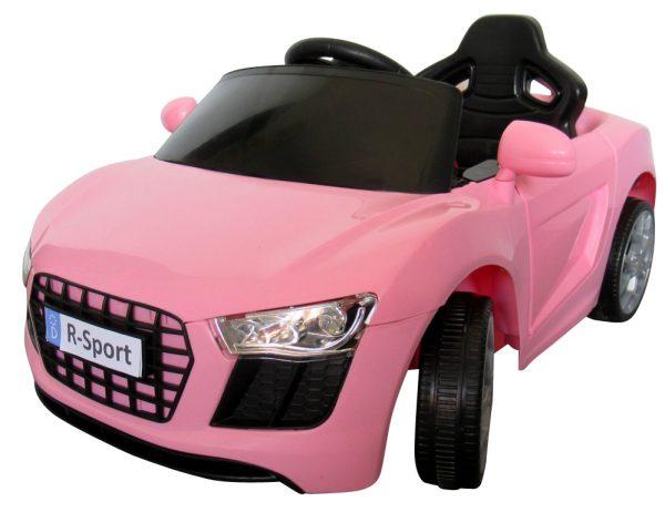 Cabrio AA4 różowy, autko na akumulator, funkcja bujania