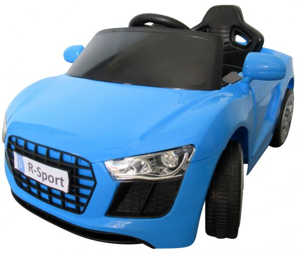 Cabrio AA4 niebieski, autko na akumulator, funkcja bujania