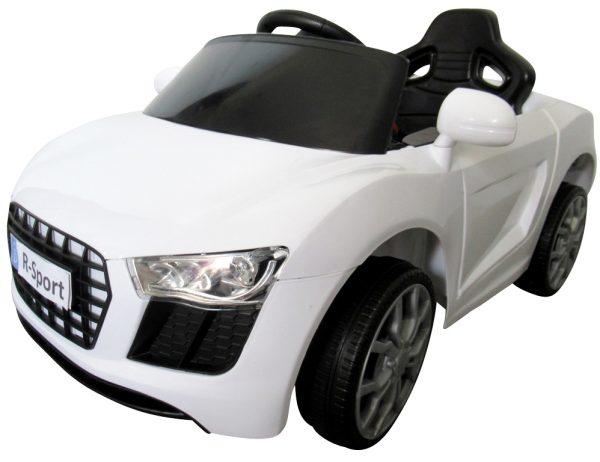 Cabrio AA4 biały, autko na akumulator, funkcja bujania