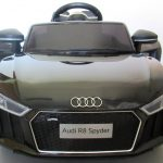 Obrazek produktu AUDI R8 Spyder Czarny, Miękkie koła Eva, miękki fotelik Licencja, Autko na akumulator