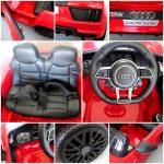 Obrazek produktu AUDI R8 Spyder Czerwony Miękkie koła Eva, miękki fotelik Licencja, Autko na akumulator