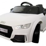 Obrazek produktu AUDI TT Biały, Miękkie koła Eva, miękki fotelik Licencja, Autko na akumulator dla dzieci