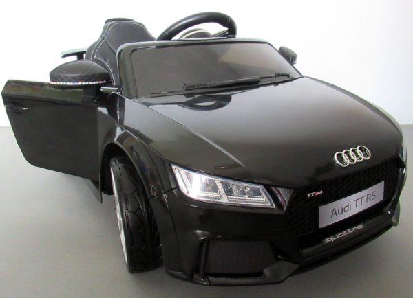 Obrazek produktu AUDI TT Czarny, Miękkie koła Eva, miękki fotelik Licencja, Autko na akumulator dla dzieci