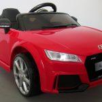 Obrazek produktu AUDI TT Czerwony, Miękkie koła Eva, miękki fotelik Licencja, Autko na akumulator dla dzieci