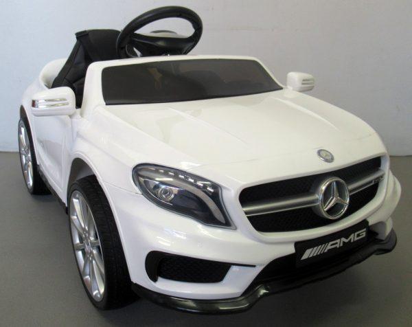Obrazek produktu Mercedes GLA45 Biały, Autko na Akumulator, Miękkie koła Eva, miękki fotelik, Licencja