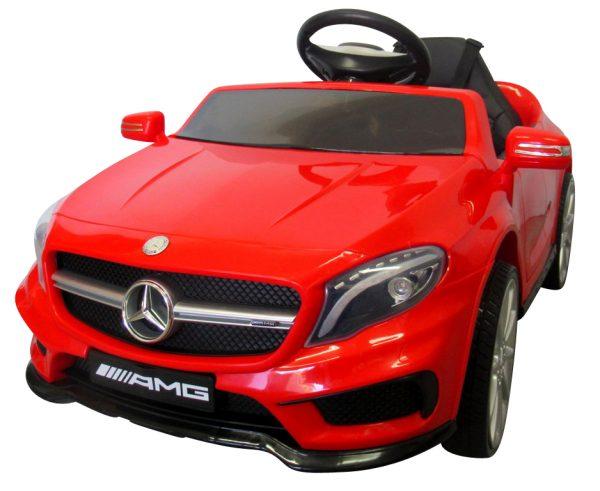 Mercedes GLA45 Czerwony, Autko na Akumulator, Miękkie koła Eva, miękki fotelik, Licencja
