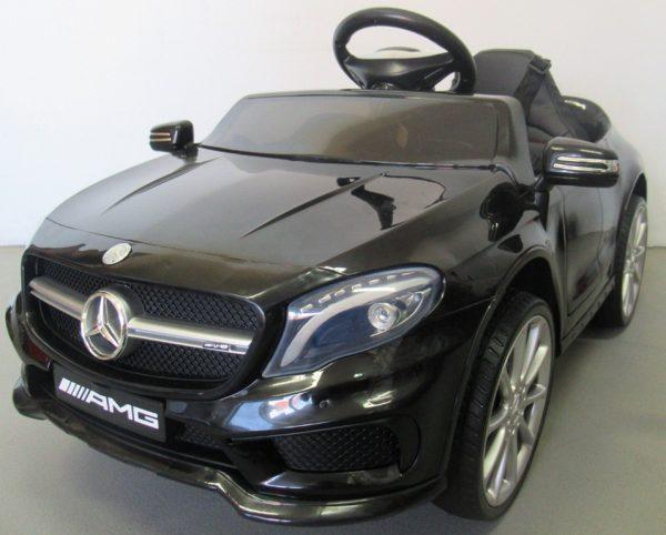 Obrazek produktu Mercedes GLA45 Czarny, Autko na Akumulator, Miękkie koła Eva, miękki fotelik, Licencja