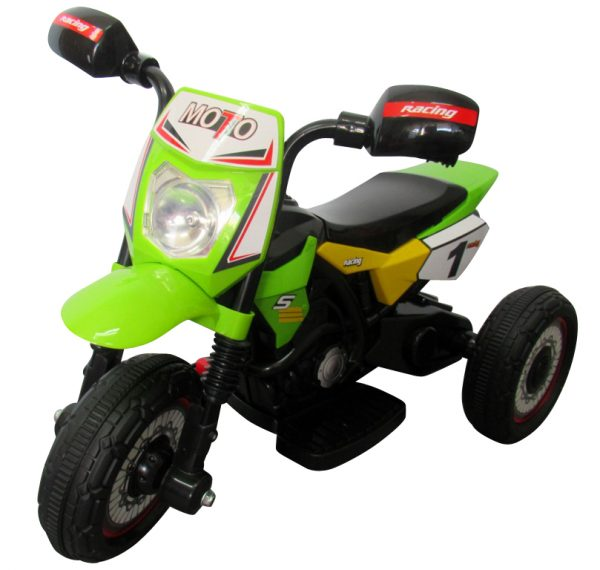 Motorek Cross zielony, motorek na akumulator dla dzieci