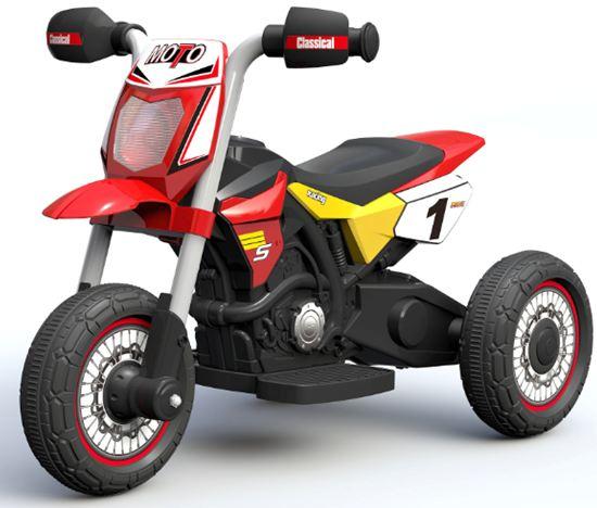 Obrazek produktu Motorek Cross czerwony, motorek na akumulator dla dzieci